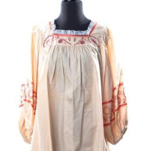 Vintage Char Handmade Peasant Hippie Embroidered Blouse Vintage Char Handmade Peasant Hippie Embroidered Blouse Hand Signed Peach Large