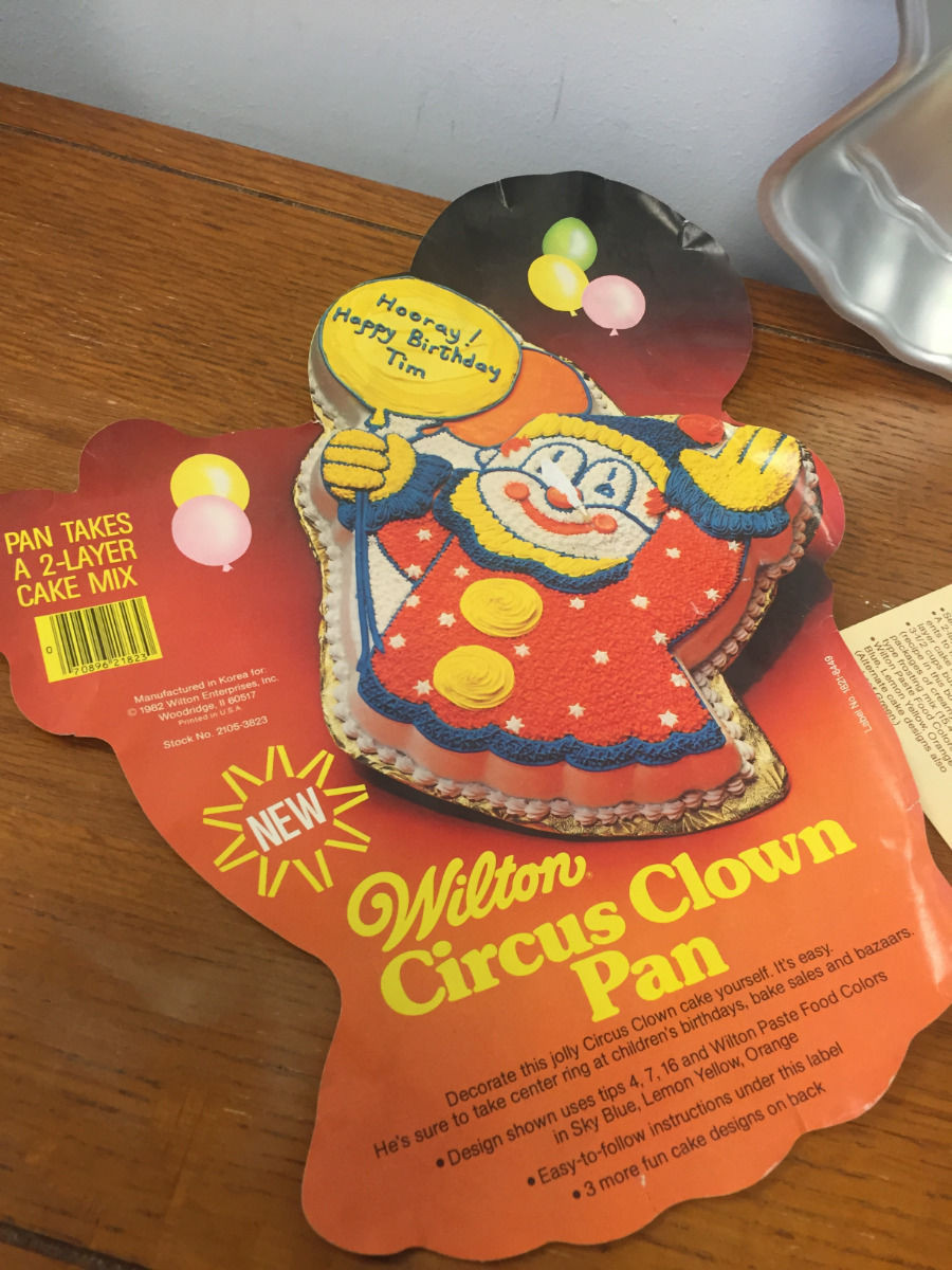 Vintage 1981 Wilton Circus Clown Cake Pan #502-2505 Insert Great Condition