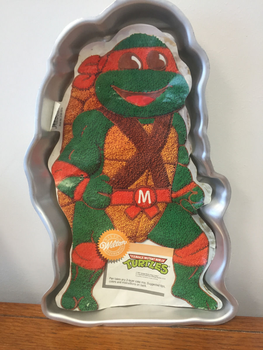Vintage 1989 Wilton Teenage Mutant Ninja Turtle Cake Pan #2105-3075 Retired