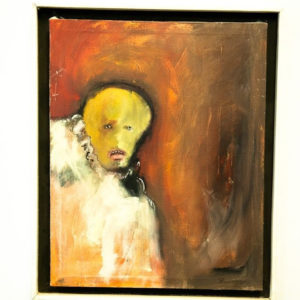 "Vtg '72 Abraham Ramirez Acapulco Mexico Oil On Canvas Painting ""Ghost"" Signed"