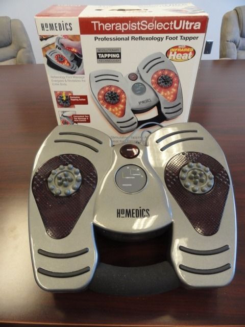 NEW HOMEDICS Therapist Select Ultra Professional Reflexology Foot Tapper W/Heat