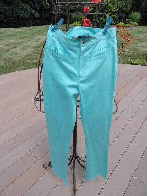 "Women's DOLLHOUSE Pants Bright Blue Bell Bottom 7"" Flair XS NWOT Low Cut"