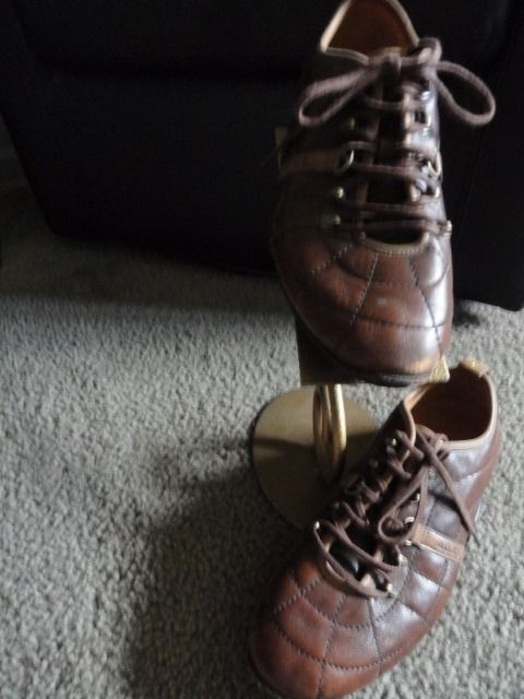 Men's POLO Ralph Lauren Brown Leather Lace Up Shoes Size 8D Est 1967 Great Cond