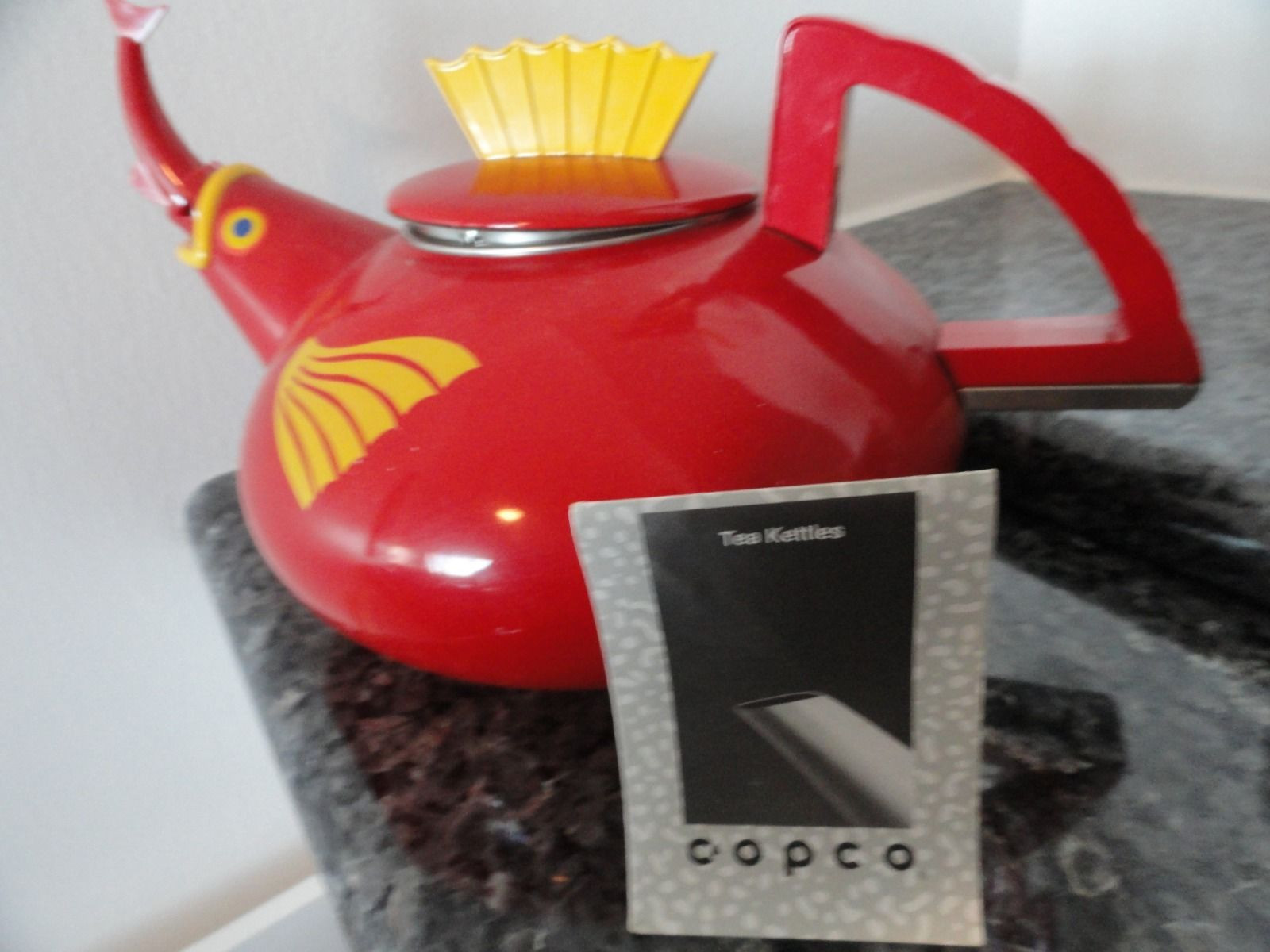 1994 Copco Under The Sea Tea Kettle Pot 2 1/2 Quart Harmonic Whistle Manual