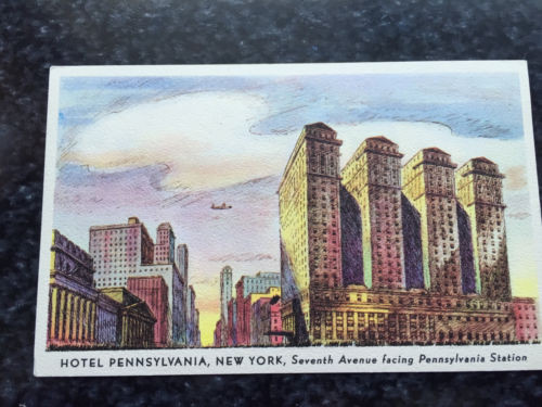 Vintage Postcard Uncirculated Unposted HOTEL PENNSYLVANIA, NEW YORK 2200 Rooms