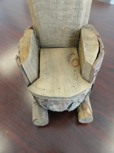 Hand Made Wooden Rocking Chair For Doll Ash Wood Folk Art Decorative Art New
