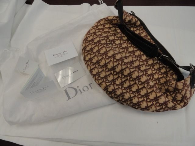 Women's Christian Dior Medium Hobo Handbag Brown Dust Cover France NWOT