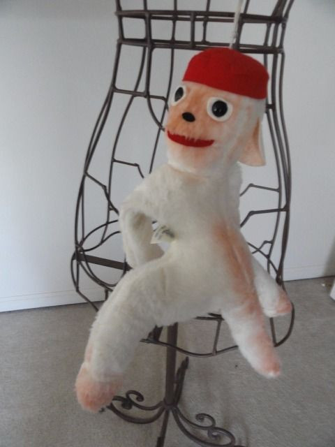 Vintage 1960's Monkey Elka Toys With A Red Hat New York 16