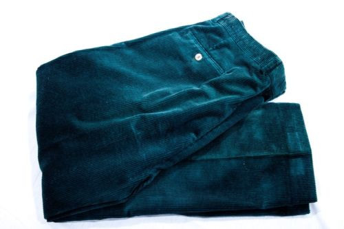 Vintage Eddie Bauer Green Corduroy Pants 38 S Preowned Excellent Cond
