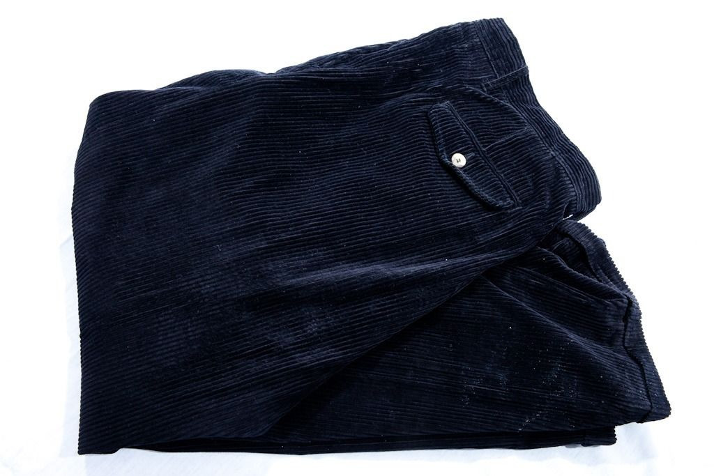 Vintage Adolfo Black Corduroy Pants 38/32 Preowned Excellent Cond