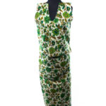 Maxi wrap dress my mother made in a lovely floral fabric